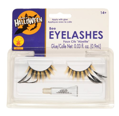 Bumble Bee Costume Eye Makeup (Rubies Bee Eyelashes)