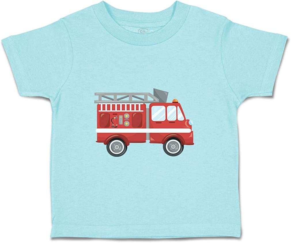Custom Baby /& Toddler T-Shirt Firefighter Car Cotton Boy Girl Clothes