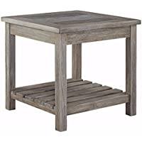 Ashley Furniture Signature Design - Veldar End Table - Vintage Style - Whitewash