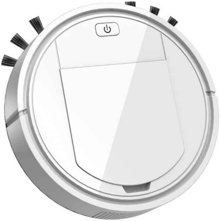 Hummla Aspiradora inalámbrica robótica automática 3 en 1 Barrido Carga USB Aspiradora Perezosa Inteligente Robots Máquina doméstica, Blanco