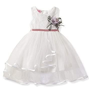 Amazon.com: Vestido de bautismo para bebé, para fiesta, con ...