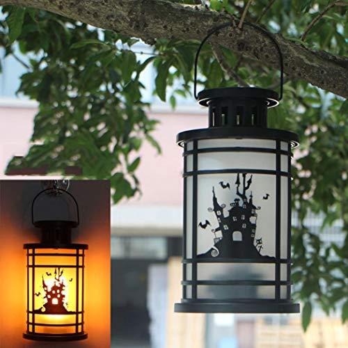 Ecosin Halloween Lantern Flame Lamp Decor Castle Halloween Pumpkin Light (Castle lamp) by Ecosin