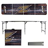 NCAA Akron Zips Weathered Version 8 Foot Portable Folding Tailgate Table
