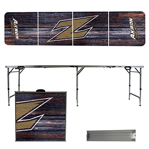 NCAA Akron Zips Weathered Version 8 Foot Portable Folding Tailgate Table by Victory Tailgate