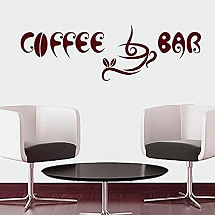 Letters Wall Decor Stickers Wall Decals Quotes Coffee Bar Cup Beans