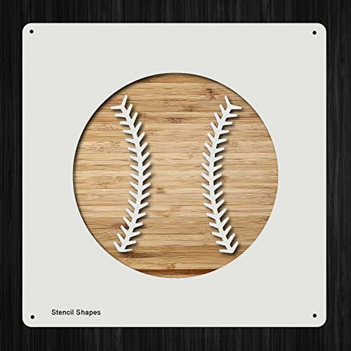 Baseball Plastic Mylar Stencil for Painting, Walls and Crafts, Item 1321620