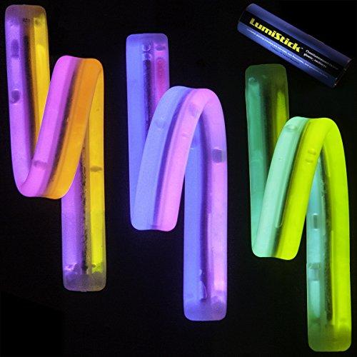 Lumistick 8 Inch Twister Glowstick Bracelets | Bendable Light Up Neon Jewelry Pack | Non-Toxic & Kids Safe Illuminating Bangles | Glowing Chem Lights (Dual Color Assortment, 40 Bracelets)