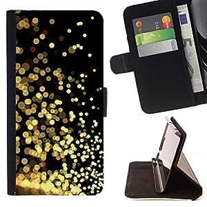 For Samsung Galaxy S6 Case , Brillo del oro Negro reflectante brillante brillante- la tarjeta de Crédito Slots PU Funda de cuero Monedero caso cubierta de piel