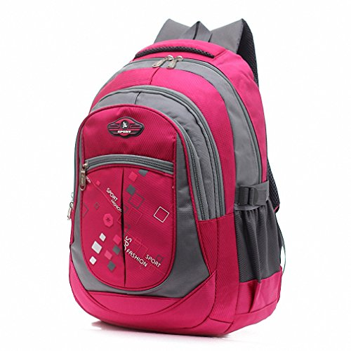 Just Follow Children Students Backpacks School Bags for Teenagers Boys Girls Kids Nylon Backpack Child Book Bag rose