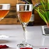 Pasabahce Twist White Wine Glass, 180 ml, Set 0f 6,Clear