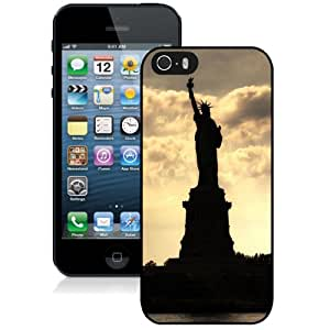 Beautiful Designed Case For iPhone 5S Phone Case With Statue of Liberty Silhouetted At Twilight Phone Case Cover