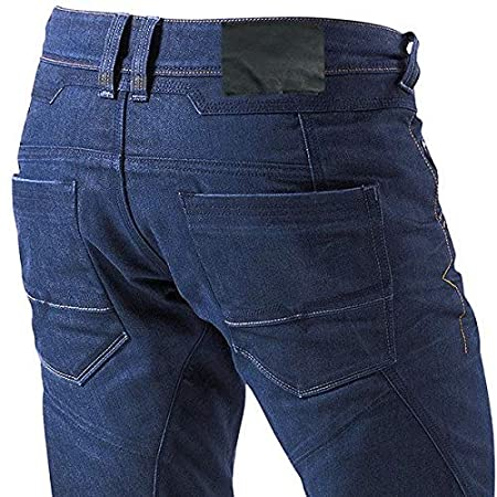 JET Pantalon Moto Hombre Jeans Kevlar Aramid Con Armadura , Azul XL 52 Corto//Cintura 36 Longitud 30