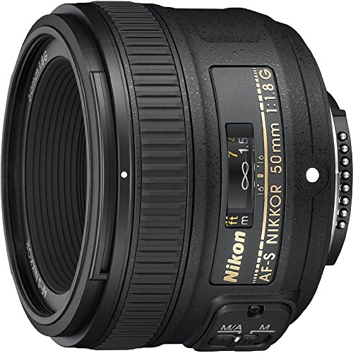 Nikon 50mm f/1.8G Auto Focus-S NIKKOR FX Lens - (Renewed) (Camera Bag Nikon 3100)