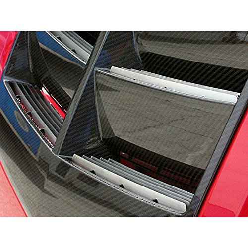 Scoop Camaro Hood (Upgrade Your Auto Brushed Hood Vent Trim Kit for 12-13 Chevy Camaro ZL1 w/Carbon Fiber Vented Hood)