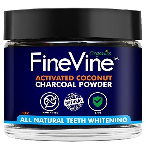 Charcoal Teeth Whitening Powder - Made in USA - REMOVES BAD BREATH and TOOTH STAINS - Best Natural Tooth Whitener...