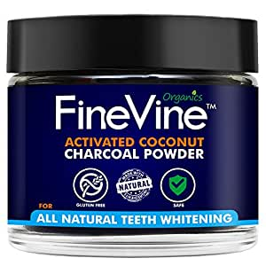 Charcoal Teeth Whitening Powder - Made in USA -REMOVES BAD BREATH andTOOTH STAINS-Best Natural Tooth Whitener Product- Mint flavor.