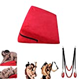 SexyFox Sex Wedge And Sex Swing Red For Couple Fetish Bondage And Conception-Aiding Best for Sleeping, Reading, Rest or Elevation