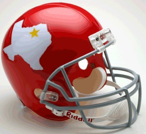 Riddell Kansas City Chiefs/Dallas Texans AFL Deluxe Replica Helmet - DALLAS TEXANS One Size