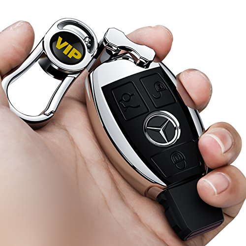 Rpkey Leather Keyless Entry Remote Control Key Fob Cover Case protector For Mercedes Benz W203 W210 W211 AMG W204 C E R CL GL S SL BGA CLS CLK CLA SLK Case Classe IYZ3312 MB-KEYPROG 2