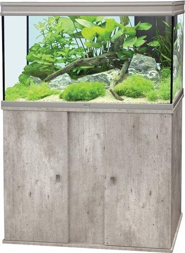 Conjunto Acuario Elegance LED H2O 100 acero inoxidable + mueble Facon Beton cera: Amazon.es: Productos para mascotas