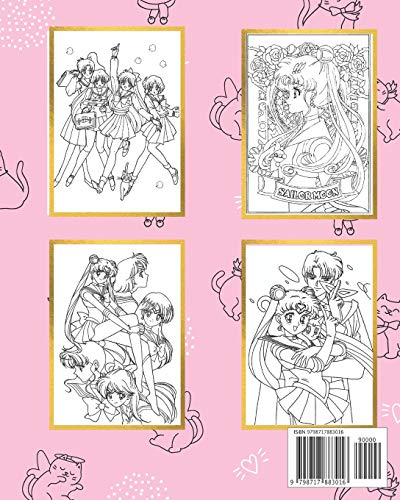 Sailor Moon Coloring Book: Book For Stress Relieving, Relaxation...