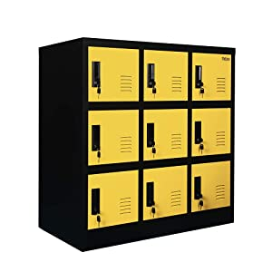 Yellow Color Heavy Duty Storage Cabinet Locking Using for Office or Home(W9D-YE)