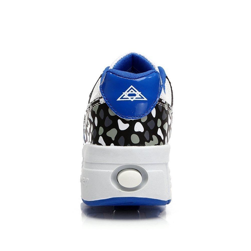 13 M US Little Kid Good Good Kid Boy Girl Double Wheeled Skate Shoes Fashion Sneakers Blue31 M EU
