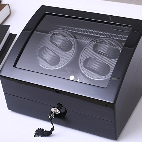 KAIHE-BOX Watch Winders Storage Display Box Case Organizer Jewellery Wristwatch with Cushion Watches drawer Watches for Men High Grade Luxurious Cover Box/Jewelry Drawer (electric motor shaking) 05 by KAIHE-BOX (Image #2)