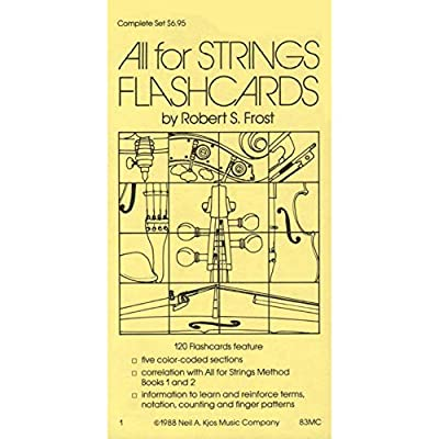 All For Strings - Theory Workbook 1 Flashcards by Gerald E Anderson and Robert S Frost: 0084027012659: Musical Instruments