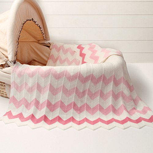 Luerme Baby Knitted Blanket Throws Newborn Crochet Quilt Receiving Blanket Swaddle Wrap Stroller Cover Nursing Blanket Crib Rug Mat Print Blanket Warm Cuddle Sheet 30