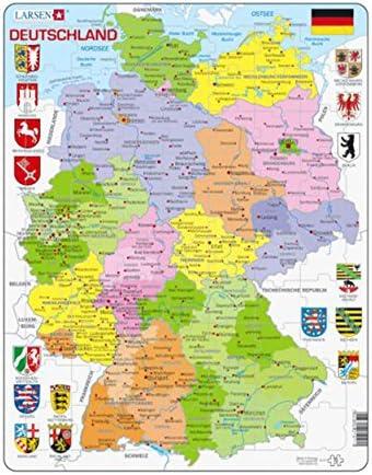 70 Teile Deutschland Larsen Puzzle A11 politisch