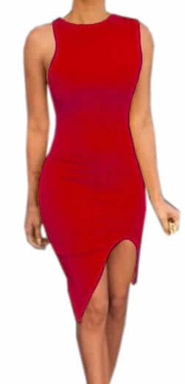 Generic Womens Sleeveless Slim Fit Sexy Evening Club Body Con Dress