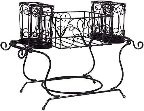 Buffet Utensil Caddy Metal 2pc Stackable ()