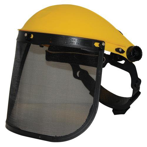 Mesh Safety Shield Visor Hat - Chainsaw, Hedge Cutting