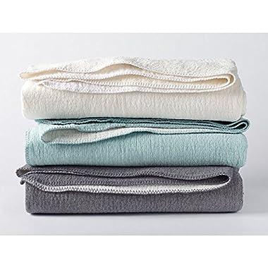 Coyuchi Organic Blanket - Cozy Cotton Full/Queen Charcoal