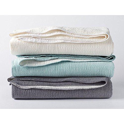 Coyuchi Organic Blanket - Cozy Cotton Throw Charcoal