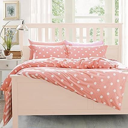 fadfay home textile cute pink polka dot bedroom set sweet pink fairy rh amazon ca