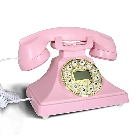 Dibujos animados de teléfono retro de la familia de la oficina de la familia de la ...