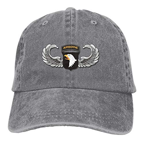 Army 101st Airborne Jump Wings Adjustable Baseball Caps Denim Hats Cowboy Sport Outdoor