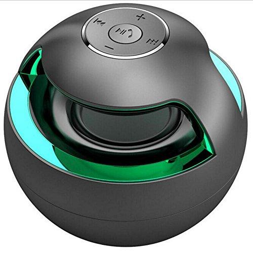 (Bluetooth Speaker Wireless Stereo Loudspeakers Super Bass HIFI degree Lossless Musics Play for Phone computer (black) )