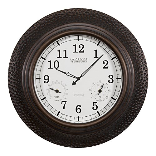 La Crosse Technology 404-3556A-Int 22 inch Atomic Analog in/Out Wall Clock by La Crosse Technology