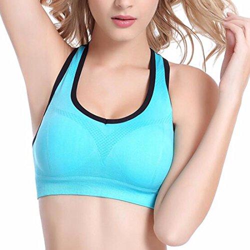 AI. Moichien mujeres push ups yoga deportes Wireless corriendo deportes fittness workout golpes halter tops bra Purple