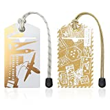 Luggage Tags for Women, Men and Kids - Set of 2 Baggage Tags for Travel
