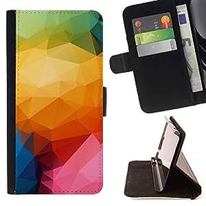Momo Phone Case / Flip Funda de Cuero Case Cover - Patrón Polígono color;;;;;;;; - Samsung Galaxy Note 4 IV