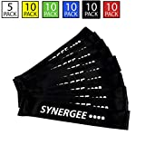 Synergee 10 Pack Mini Band Resistance Loop Exercise Bands Black X-Heavy Resistance