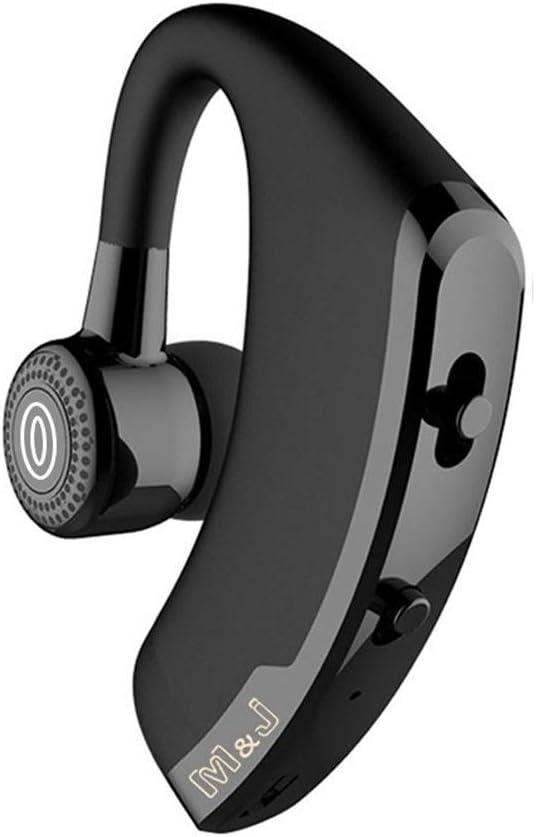 Inalámbrico de Control de Manos Libres Bluetooth for Auriculares de Negocios con el Mic de Voz Bluetooth for la impulsión de cancelación de Ruido (Color : Black)