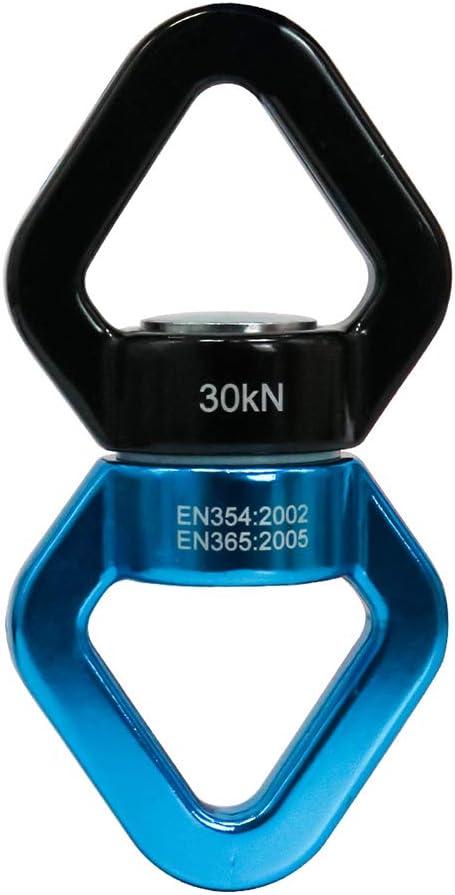 NewDoar Giratorio de oscilación, 40 KN/30 KN con certificado CE Micro dispositivo giratorio para columpio aéreo danza, yoga, columpio, hamaca ...
