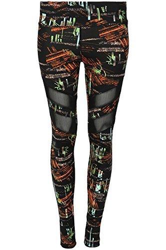 Women Vest Gym Workout Sports Running Multi Colour Print Trouser Active Wear Set