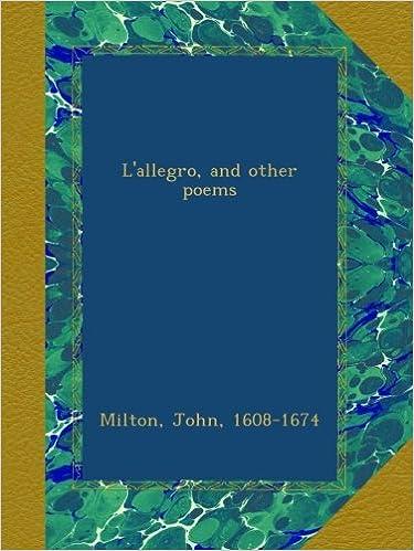 Ebook descargas gratuitas epub L'allegro, and other poems B00B7MV99Q PDF