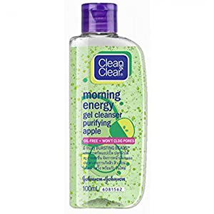 CLEANSING GEL CLEAN AND CLEAR MORNING ENERGY GEL CLEANSER PURIFYING APPLE SCENT SIZE 100 ML.